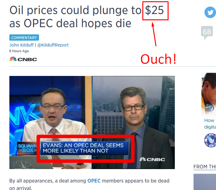 Further woes in oil…